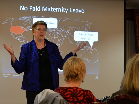 Cathy Carothers  speaks at the Vermont Department of Health Breastfeeding Symposium in Montpelier on Wednesday . Carothers speaks nationally about federal breastfeeding support initiatives .