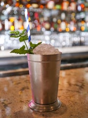 A mint julep at Bubba in Des Moines is one of the signature cocktails on the menu.