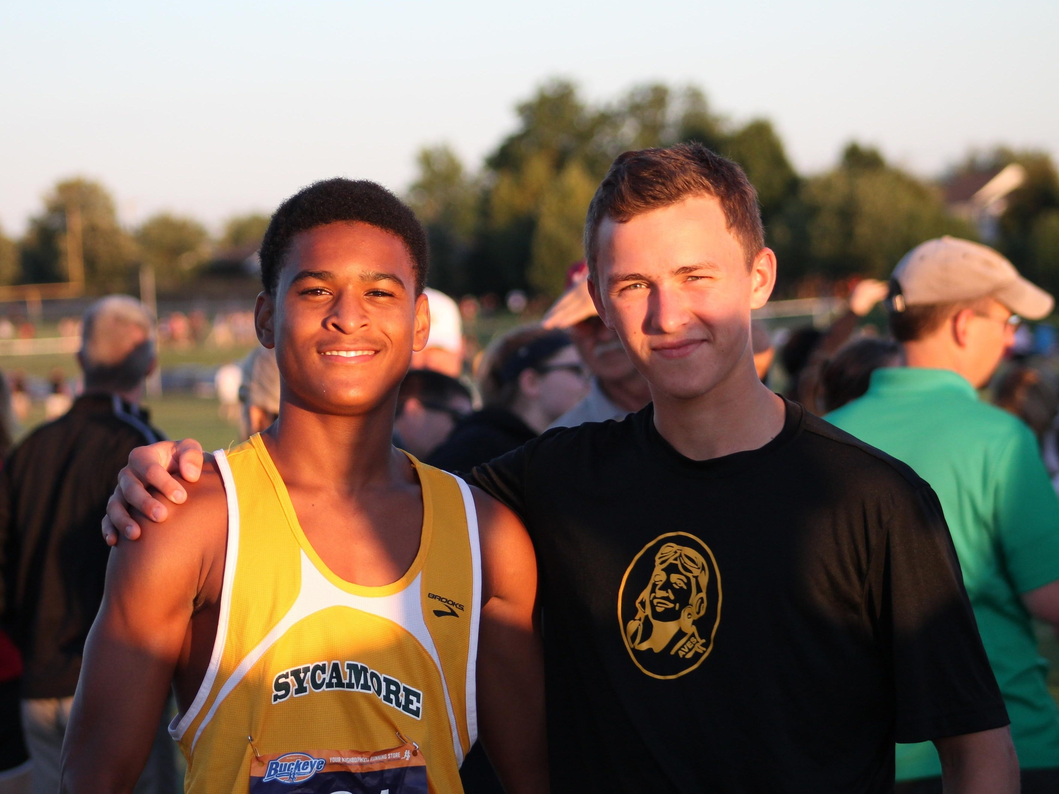 Sycamore seniors Kyria Graves, left, and Mitch Singstock are among the veterans of the Aves cross country team.