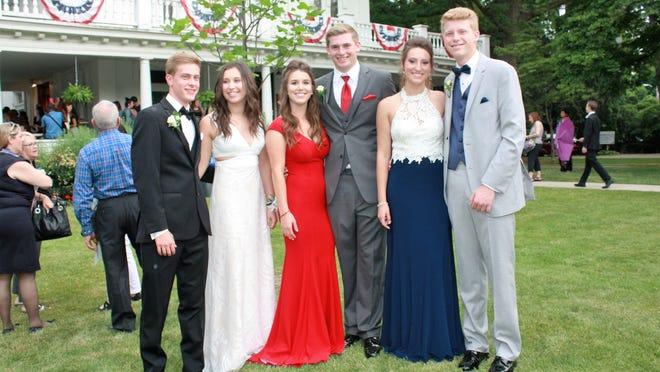 "North Farmington High School ""besties"" and their dates: Sean Sheridan,Novena Petracaj, Emma Green, Jared Fish, Joelle Barnett and Graham Narins."