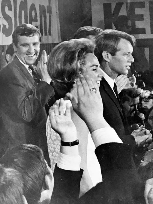 Robert Kennedy Ted Kennedy Barnstorm Indiana With Political Neophyte
