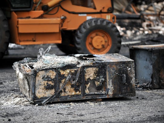Some items were removed from the rubble following Sunday's