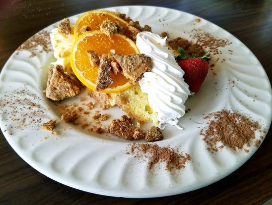 Sailor's Return's Sunset Bay orange cake was moist