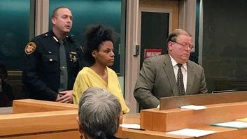 Watkins appeared before a judge last Friday in her first court appearance. She is accused of beheading her 3-month-old daughter.