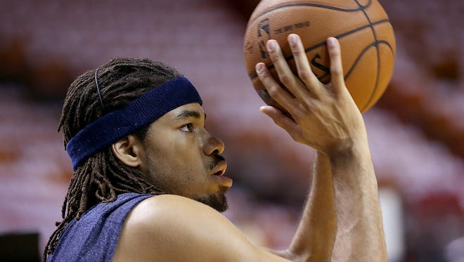 Pacers forward Chris Copeland, shown here before a game against the Miami Heat, was stabbed early Wednesday morning. He is in stable condition.