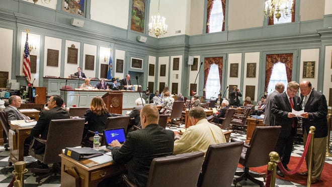 The Delaware Senate meets during the last legislative session.