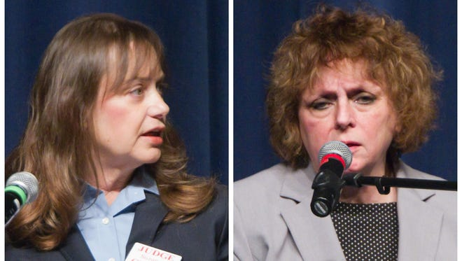 The race between incumbent Judge L. Suzanne Geddis and Judge Carol Sue Reader is unusual because it is the first time a sitting judge has challenged a sitting judge on the same bench in Livingston County.