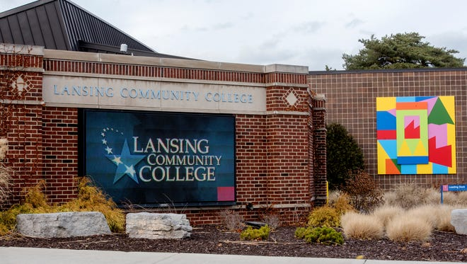 One of the signs welcoming the public on the Lansing Community College campus on Tuesday, Dec. 5, 2017, in Lansing.