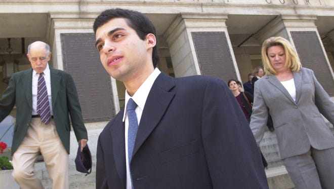 Zachary Witman leaves the York County Courthouse on Monday, May 19, 2003.