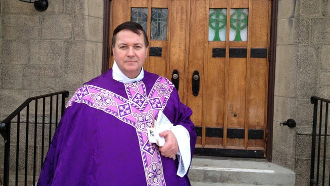 The Rev. Richard Gill, an administrator for St. Lawrence O'Toole Church in Brewster, where two communion chalices were stolen on Friday.