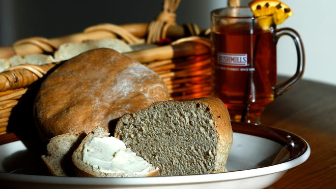 Brown soda bread from the Irish Rover with a hot rum cider.Nov. 25, 2015