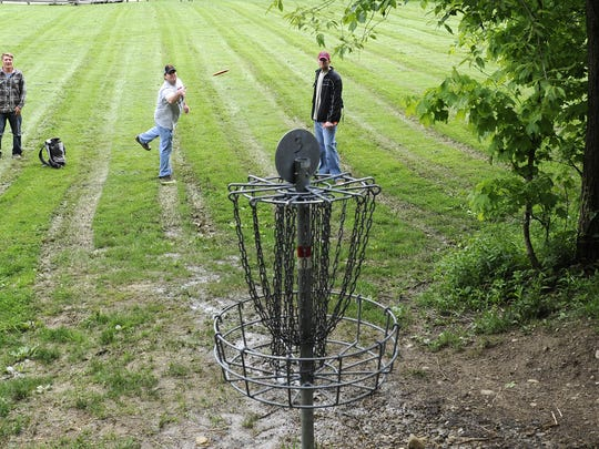 Frisbee golf is just one activity people can participate in at Lobdell Reserve, which is part of the Licking Park District.