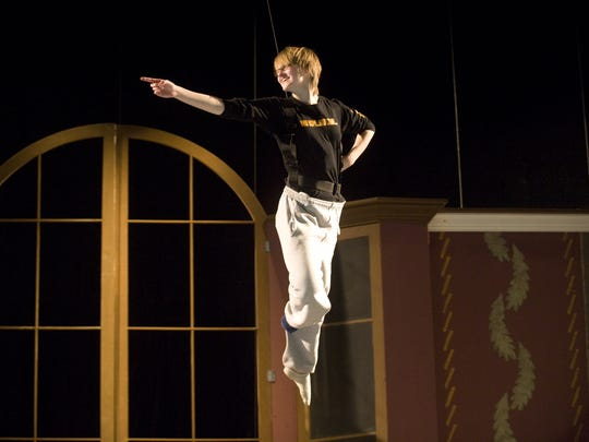 Kerstin Anderson, then 16, of South Burlington, starred as Peter Pan for Lyric Theatre in 2010.