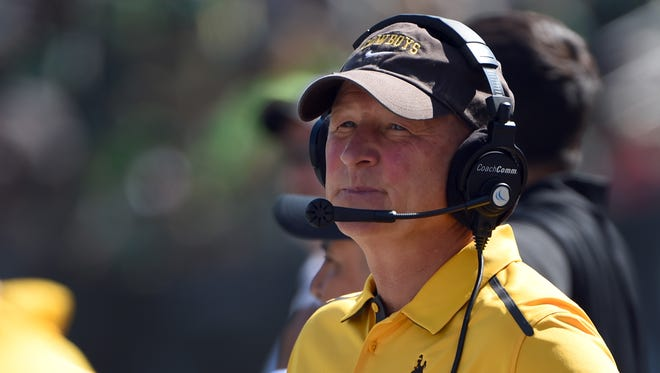 Wyoming head coach Craig Bohl.