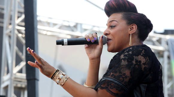 LOS ANGELES, CA - JUNE 29:  Marsha Ambrosius performs at the Music Matters Stage during the 2013 BET Experience at L.A. LIVE on June 29, 2013 in Los Angeles, California.  (Photo by James W. Lemke/Getty Images for BET)