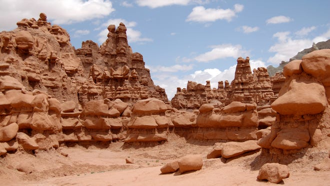 This undated photo released by Utah State Parks shows rock formations at Goblin Valley State Park.