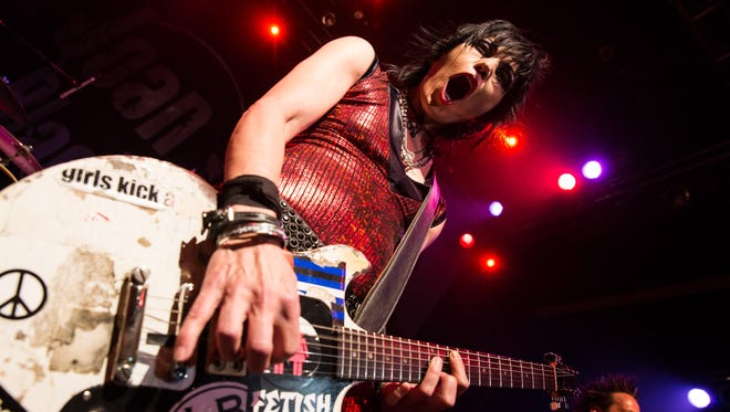Musician Joan Jett performs at the 6th annual Sunset Strip Music Festival launch party at House of Blues Sunset Strip on August 1, 2013.