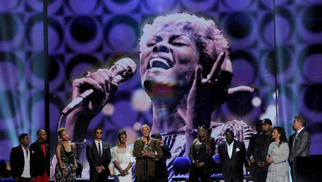Dionne Warwick accepts the Legend Award at the 2013 Soul Train Awards at the Orleans Arena last month in Las Vegas.