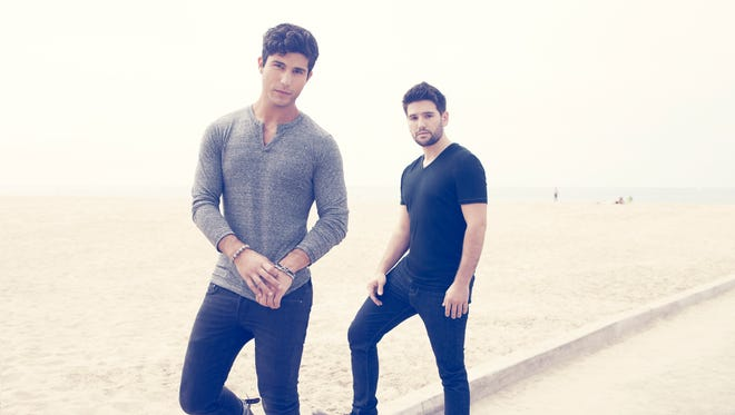 """Country duo Dan + Shay, consisting of Dan Smyers, left, and Shay Mooney, will release its first album, """"Where It All Began,"""" April 1."""