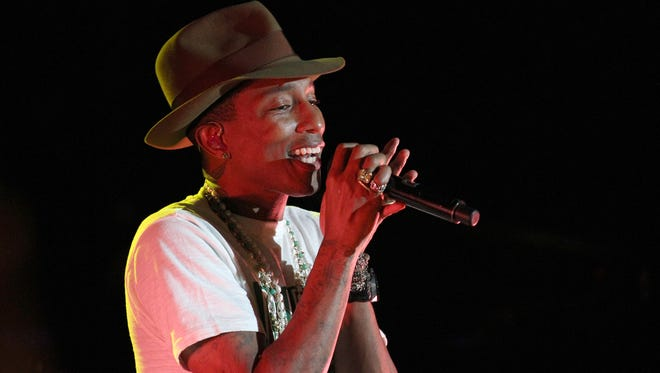 Pharrell performs at the Sprint Sound Sessions event April 29 in New York.