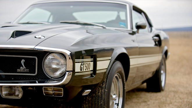 This photo taken on March 27, 2014, shows the 1969 Ford Shelby Mustang GT500 Cobra Jet owned by  Centre Hall, Pa., resident Larry Brown. George Cowfer of Clearfield County paid $280,000 for the car at an auction Friday, April 25, 2014.