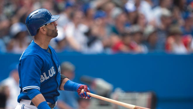 Jose Bautista homered for the fifth straight game.