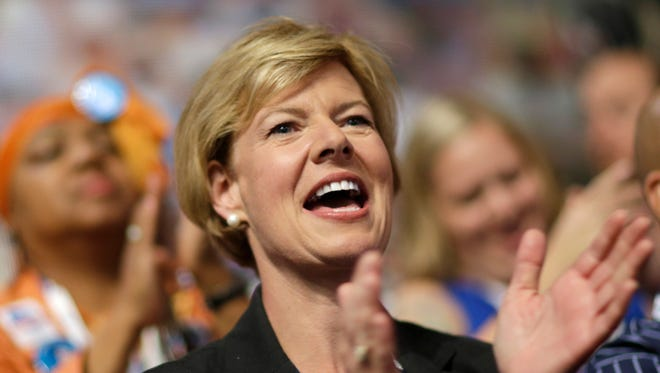 Nearly 44% of campaign donors to Sen. Tammy Baldwin, D-Wis., were women, the Center for Responsive Politics says.