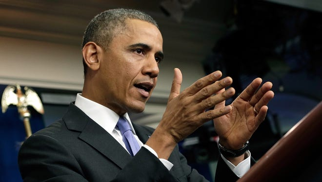 President Obama defends the Affordable Care Act on Thursday.