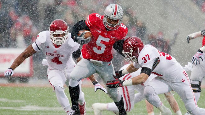 Ohio State quarterback Braxton Miller has accounted for over 300 yards total offense in four of seven starts.