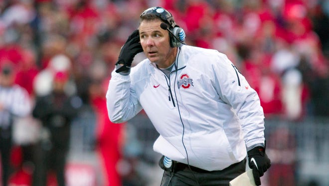 Coach Urban Meyer and Ohio State face Michigan on Saturday, but they also have the Big Ten Championship game looming.