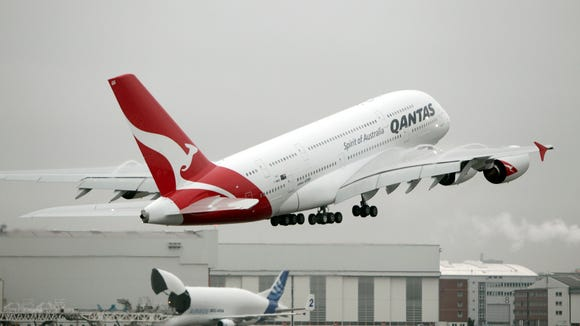 Qantas A380 returns to LAX after water floods aisles