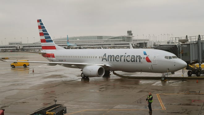 An American Airlines 737-800 at Chicago's O'Hare Airport on Jan. 29, 2013.