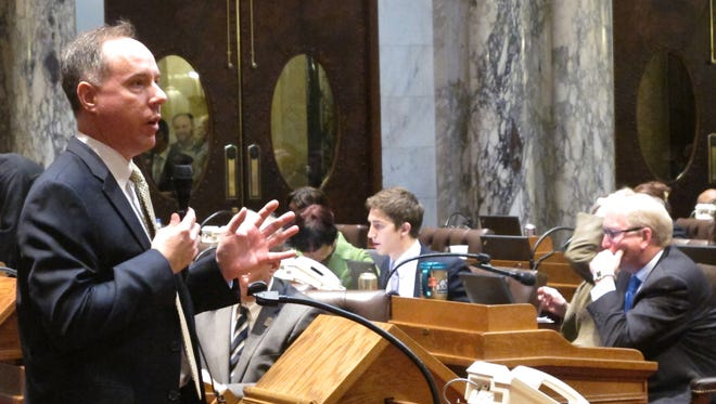 Wisconsin Assembly Speaker Robin Vos, a Republican (left)