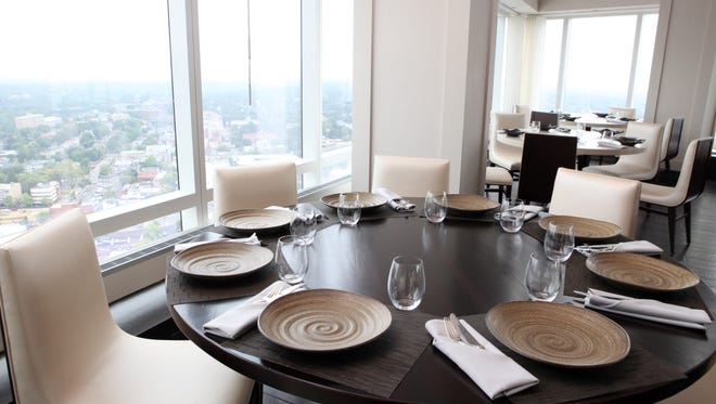 One of the dining rooms at 42 The Restaurant, at the top of the Ritz-Carlton in White Plains.