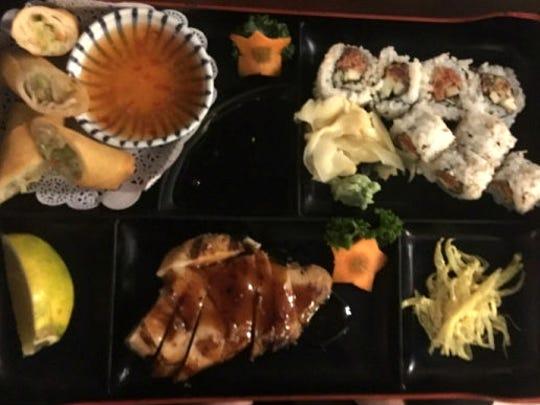 Goma Japanese Restaurant's dinner Bento box allows