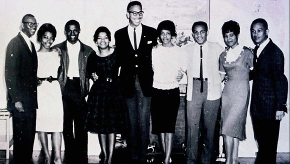 This March 21, 1961, file photograph shows the nine