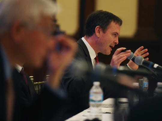 Robert Daly, Director of the Kissinger Institute on China and the United States, speaks during a US-China Think Tank Symposium on Monday, June 12, 2017, at the World Food Prize building.