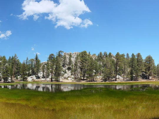 Hidden Lake, a seasonal lake in the San Jacinto Mountains.