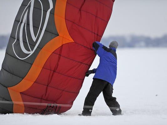 Sturgeon Stampede winter kiteboarding classic