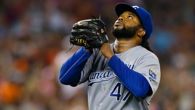 The Royals are hoping Johnny Cueto returns to ace form in the postseason.