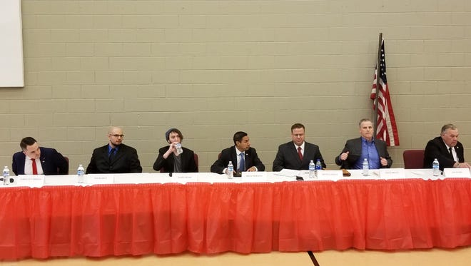 Seven Republican candidates for Indiana's Fourth Congressional District debated Saturday, Mar. 24.