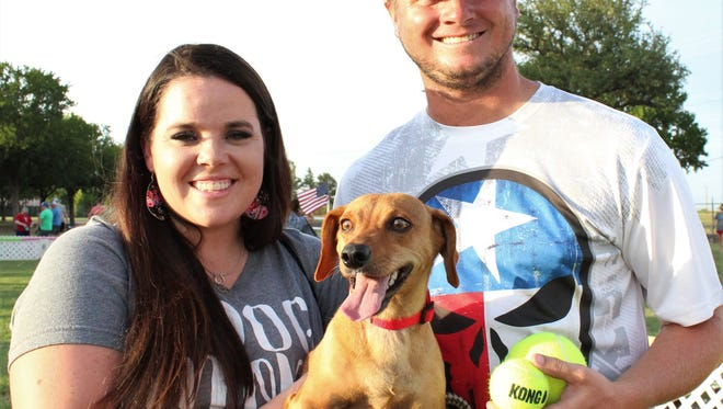 Every dog has its day, but Chevy has a few more than most. He won the Dachshund Races for the fourth straight year. His human crew were Taylor and Kolby Barnhill, and his inspiration was a squeaky tennis ball.