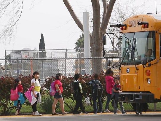 Children at the Orange Center Elementary School in