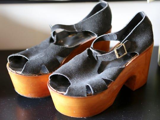 Favorite things from Stylemaker Maggie Lanham.  70's era platform shoes from Street Scene Vintage in Lexington.September 10, 2015