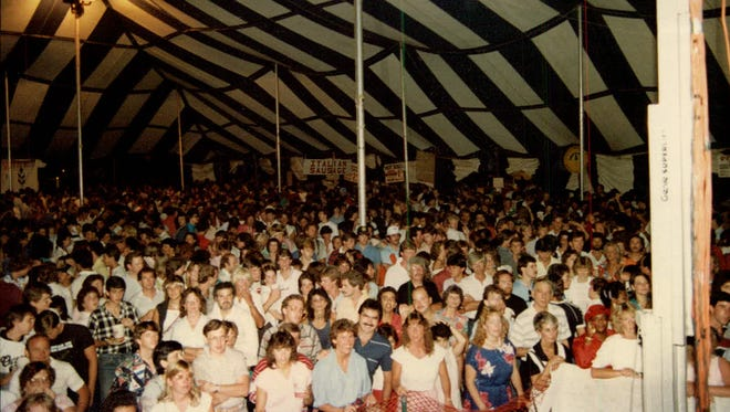 The downtown Festival Tent, circa 1985. The tent was once home to large Italian Festivals.