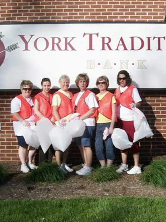These volunteers from York Traditions Bank cleaned up Eastern Boulevard a few years ago as part of the Great American Cleanup. Left to right: Lisa Wilkins, Victoria Ermakov, Maddy Gingerich, Deb Dixon, Kathy Eveler, Shawna Wagner