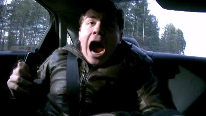 Jeff Gordon gives reporter Travis Okulski a good scare in the latest 'Test Drive' video.