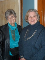 Glenda McCoy (left) and Janell Sanders, both of Redding,
