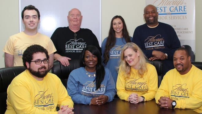 """Always Best Care Senior Services recently opened its first Delaware location. Pictured are (seated from left) John Higgins, operations specialist; Doretha """"Dee"""" Williams, agency director; Angela Graczyk, a private consultant for the company; and Gerald Mack, human resources supervisor; (standing from left) Jason Bowser, community outreach coordinator; Tony Belardino, director of marketing and community outreach; Amanda Terry, human resources administrative assistant; and Bryant M. Greene, owner/administrator."""