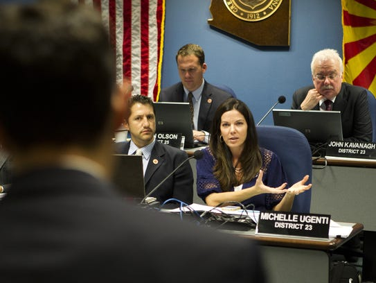 State Rep. Michelle Ugenti-Rita asks a question in
